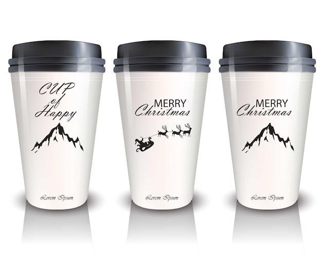 Kaffeetassen zum mitnehmen vektor