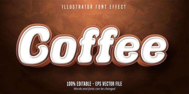 Kaffeetext, bearbeitbarer schrifteffekt