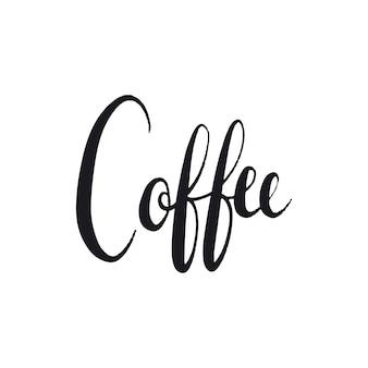 Kaffeetypographiewort-artvektor