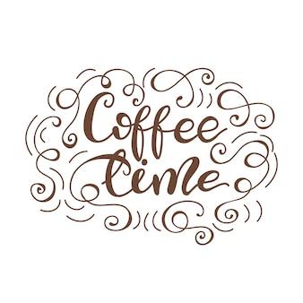 Kaffeezeit beschriften. vektor-illustration.