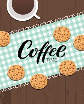 Kaffeezeitgrußkarte