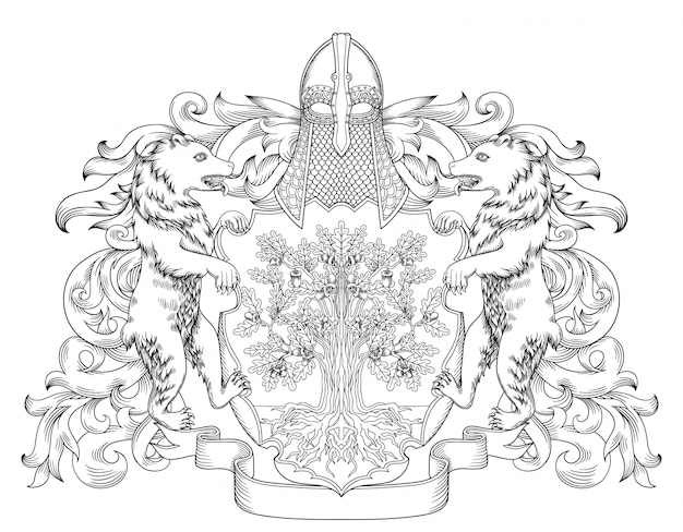 Kaiserliches wappen wappenschild mit krone und lorbeerkranz