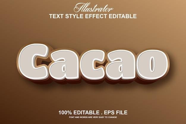 Kakao-texteffekt editierbar