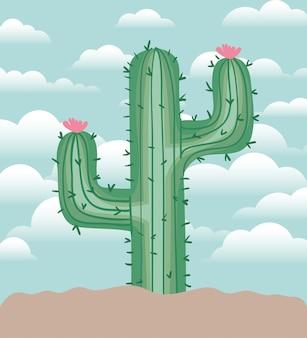 Kaktus gepflanzt in der gartenikone
