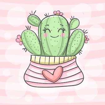 Kaktus glücklich