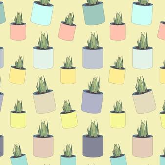Kaktus muster pastelltapete