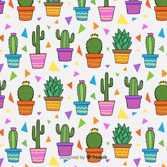 Kaktus-muster-sammlung