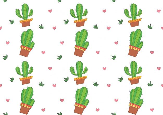 Kaktus nahtlose muster vektor