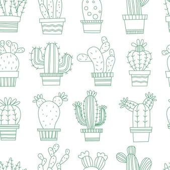 Kaktus nahtlose muster
