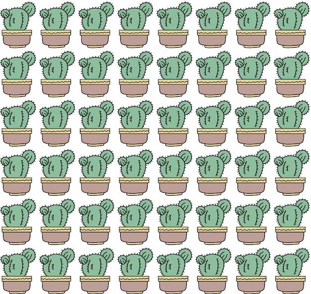 Kaktus-nahtloses muster