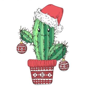 Kaktus neues jahr.