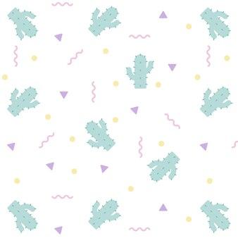 Kaktus-pastell-nahtlose muster hintergrund