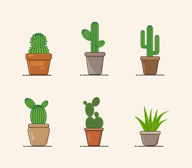 Kaktus set illustration
