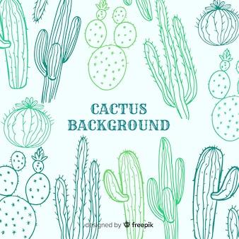 Kaktus-skizze-hintergrund