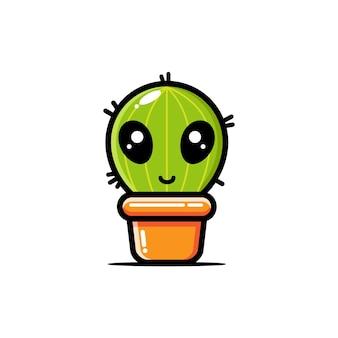 Kaktus und alien design-konzept