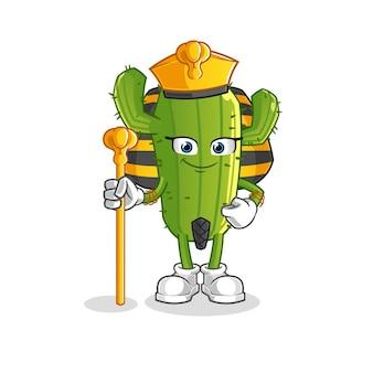 Kaktus-zeichentrickfigur altes ägypten