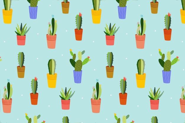 Kaktusmuster mit verschiedenen formen