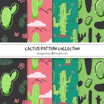 Kaktusmuster sammlung
