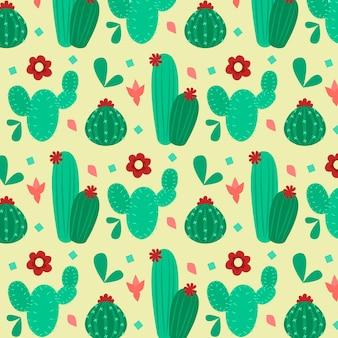 Kaktusmuster-sammlungsentwurf
