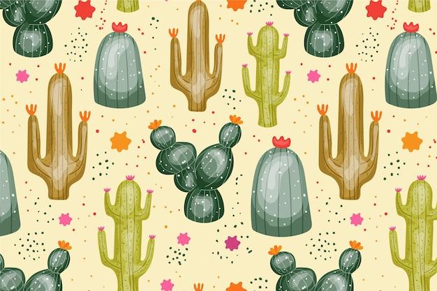 Kaktusmuster-sammlungskonzept