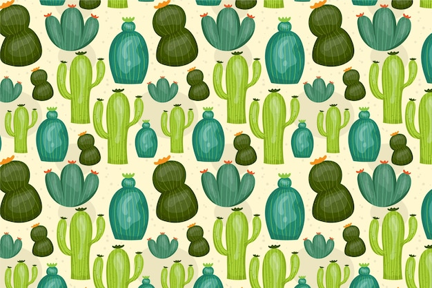 Kaktusmusterkonzept