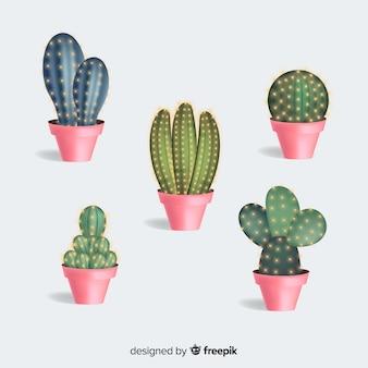 Kaktuspflanze im realistischen stil