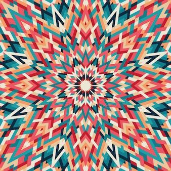 Kaleidoskop geometrisches buntes muster. abstrakter hintergrund