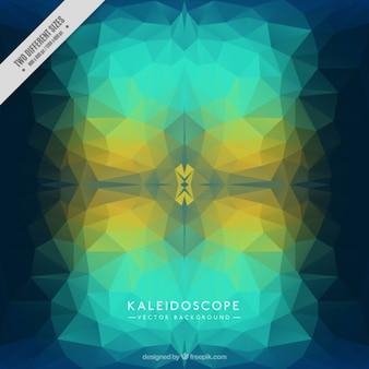 Kaleidoskop hintergrund in den blauen tönen