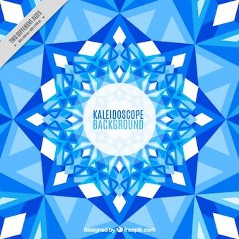 Kaleidoskop hintergrund mit blauen kristallen
