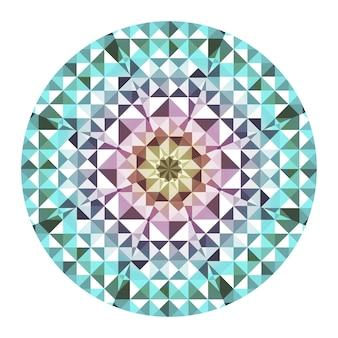 Kaleidoskop-vektor-hintergrund. abstraktes geometrisches low-poly-muster. dreieck heller hintergrund. dreieck-geometrische elemente. abstrakter dreieckiger hintergrund. vektor-geometrisches kaleidoskop. Premium Vektoren