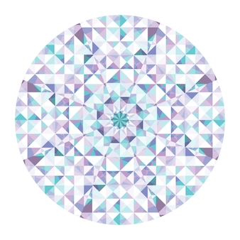 Kaleidoskop-vektor-hintergrund. abstraktes geometrisches low-poly-muster. dreieck heller hintergrund. dreieck-geometrische elemente. abstrakter dreieckiger hintergrund. vektor-geometrisches kaleidoskop.