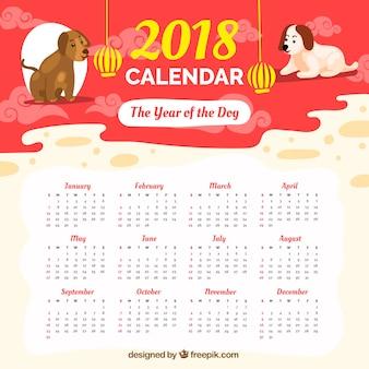 Kalender 2018 des glücklichen chinesischen neuen jahres
