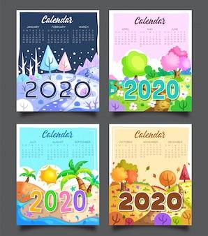 Kalender 2020 vier jahreszeiten