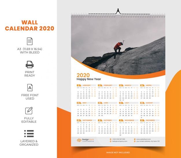 Kalender 2020 vorlage