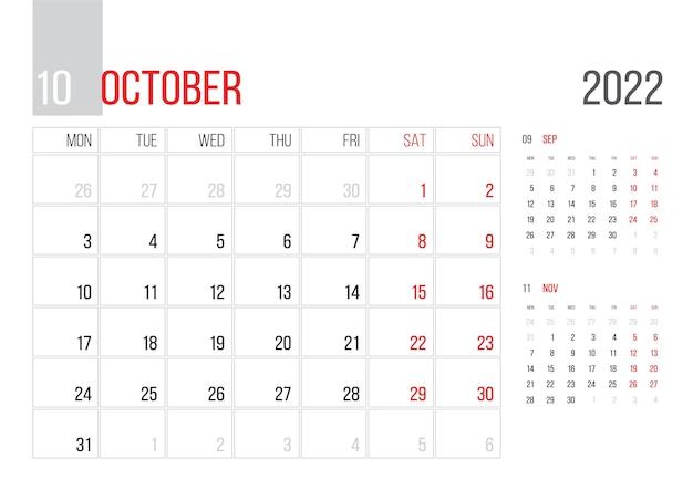 Kalender 2022 planer corporate template design märz monat woche beginnt am montag grundraster