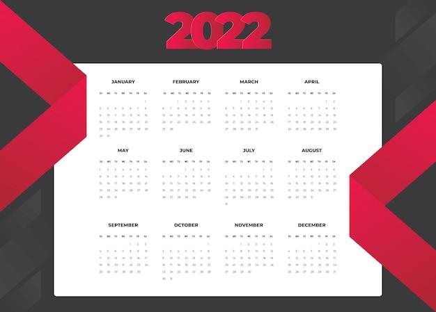 Kalender 2022 vorlage vektor set tischkalender 2022 wandkalender design planer