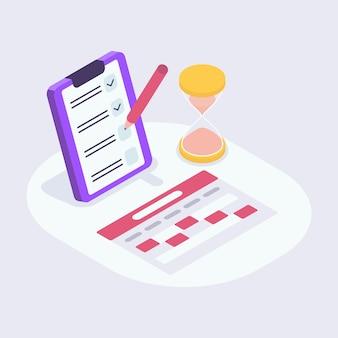 Kalender-checkliste perfekt für terminerinnerungen