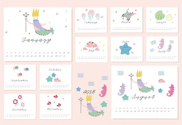 Kalender der meerjungfrau 2018