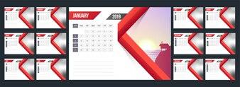Kalender des neuen Jahres 2019.