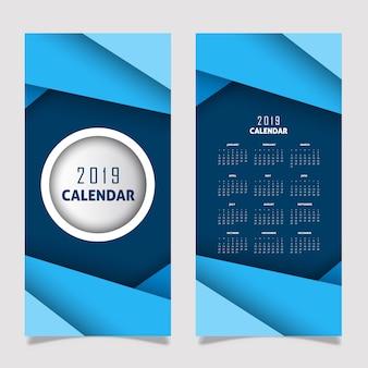 Kalender-design des vektor-2019