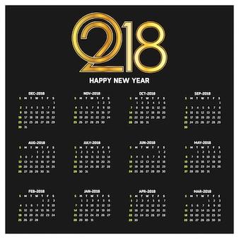 Kalender für 2018