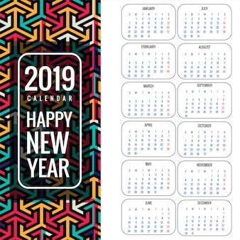 Kalender für 2019 hintergrund vektor