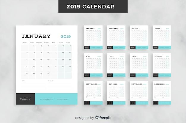 Kalender für 2019 monate