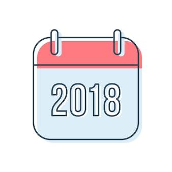 Kalender-ikone des neuen jahr-2018