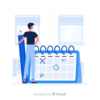 Kalender konzept illustration