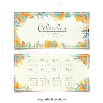 Kalender mit blättern