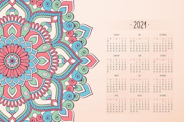 Kalender mit mandalas dunkler artverzierung