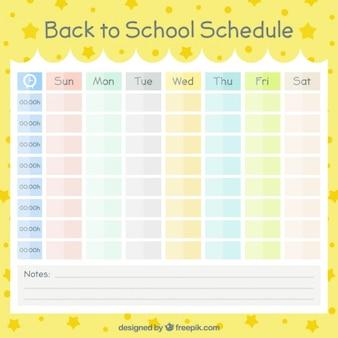 Kalender organisiert von farben für die schule