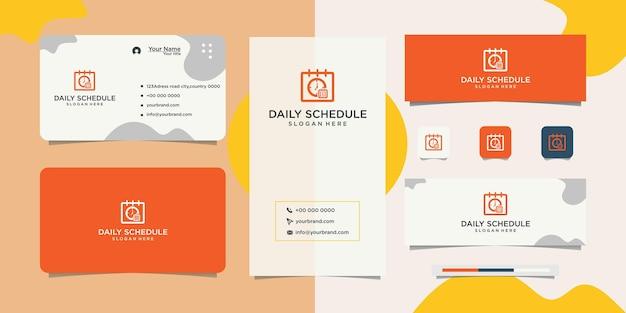Kalender- und zeit- und visitenkarten-designs