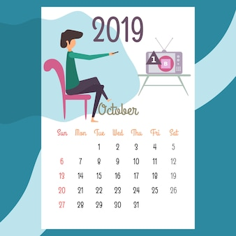 Kalenderdesign für 2019. schönes kalenderdesign für 2019